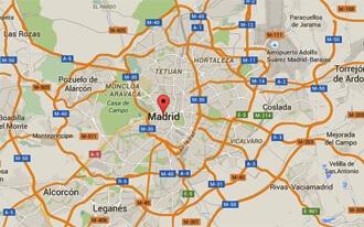 מפת העיר מדריד